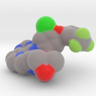 EGFR TK Mutant Small Molecule Inhibitor (3W2O) 3d printed