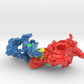 Hbp2 protein complexed with heme 3d printed